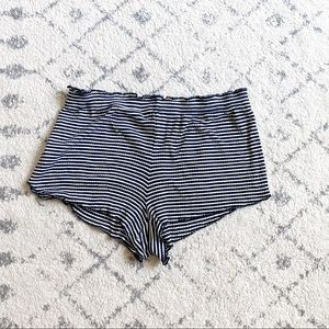 Forever 21 black and white striped sleep shorts